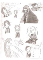 My First LOTR Sketchdump by kittykolorz