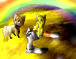 Look at the Rainbow! +Commision+ by Emberheart23
