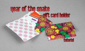 The Year of the Snake Gift Card Holders by SewDesuNe