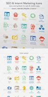 SEO and Internet Marketing Icons by ottoson