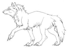 Wolf - free lineart by JMoona