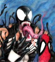 Venom Conquers Spidey by Sapoman