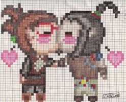ByrneXJessie on graphing paper by dragontamer272