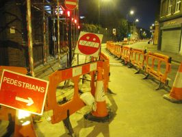 grimacing roadworks by FilthyLuker