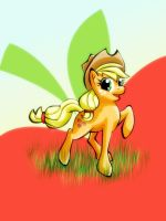 .: Summer day with Applejack:. by amy2sa-fan
