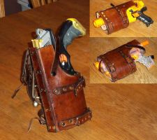 Adjustable Nerf Gun Holster by SteamViking