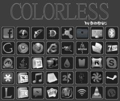 Colorless Icon Set (40 Icons) by SpadeStylez