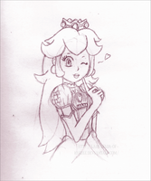 Peachy Sketch by Lady-Zelda-of-Hyrule