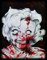Zombie Betty White by SarahEleanor