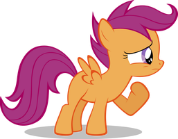 Scootaloo Looks Worried by Zapapplejam