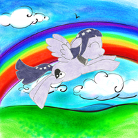 My Little Poninja: Over the Rainbow by the-ocean-sings