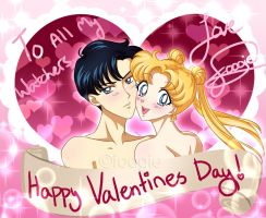 Usagi and Mamoru - Happy Valentines Day! by foogie