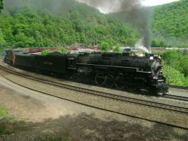Steam Over Horseshoe Curve by SteamLocoFan98