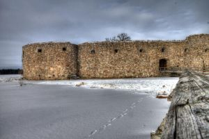 Wintry ruins by Tamborita