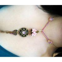 Pink Girly Assemblage Necklace by asunder