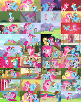 PinkieDash/RainbowPie Collage by The-Queen-Of-Cookies