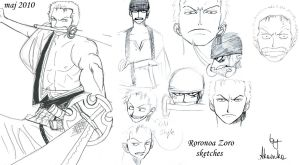 Some Zoro sketches by Akainka