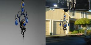 Blue Steampunk Sun Catcher- SOLD by YouniquelyChic