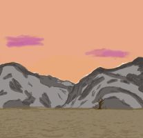 Mountainscape by possomperson