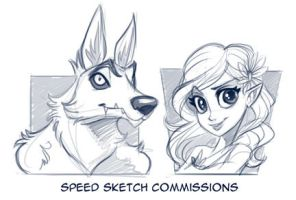 Speed Sketch commissions by KelleeArt