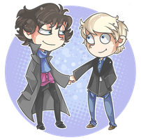 Best friends hold hands. by Arkeresia