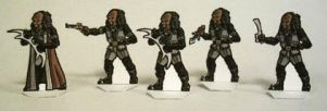 Klingon 28mm paper miniatures by Scarecrovv