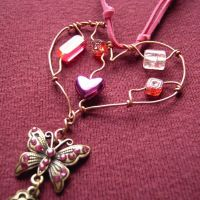 Pink Heart - a pendant SOLD by SneddoniaDesigns
