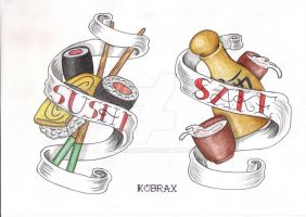 Tattoo Flash Traditional X by Kobraxxx