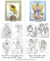 Fairy Coloring Pages Cover Art by MisticUnicorn
