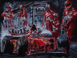 Michael Schumacher run out the darkness by JuanCMendez