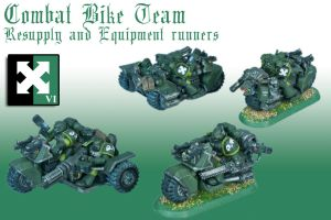 Combat Bike supply team by Pip-Faz