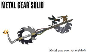 metal gear keyblade by reaper-neko