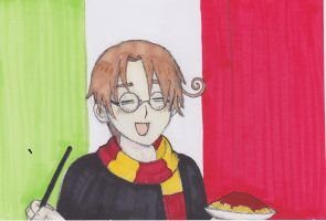 A Wand in My Right Hand and Pasta in my Left! by MisakiFlame