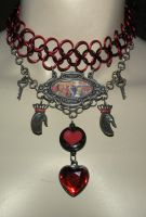Red Queen Choker 1 by kinyo-spoons