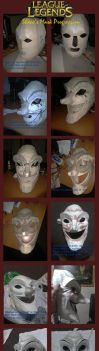 League of Legends: Shaco Mask Progression by FrozenHaka