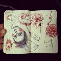 Mini moleskine drawing 2 by LadyOrlandoArt