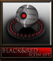 black and red icon set by xylomon