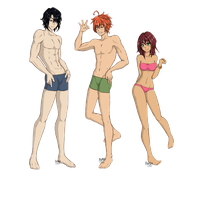R.U.X - Fullbody Trio by Nia-Neko