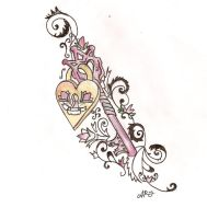 Key and Lock tattoo design by Cupcake-Lakai