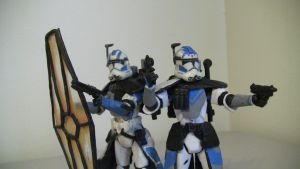 ARC Trooper Echo and Fives Custom Figures by QandQfilms