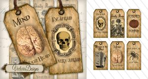 Printable Halloween Labels by VectoriaDesigns