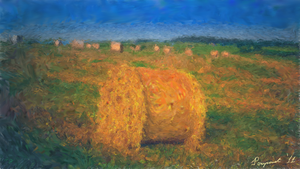 The Hay Bale by PomPrint