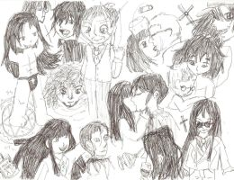 Hellsing Sketch page by Tainted-Scribbles