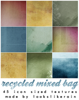 Recycled Mixed Bag by lookslikerain