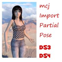 New Daz Script - Import Partial Pose by mCasual