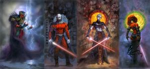 Star Wars Sith Lords Wallpaper by masterbarkeep
