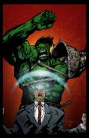 Hulk vs. Prof. X Coloring by Vulture34