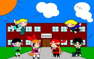 ppg and rrb at school by BoomerXBubbles