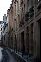 French Street Stock by Sheiabah-Stock