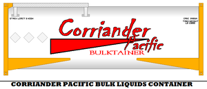 Corriander Pacific Bulk Liquids Shipping Container by mcspyder1